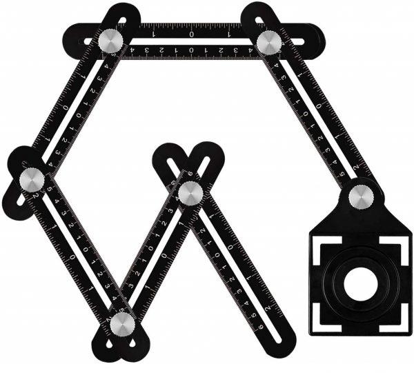 12.Upgrade Multi Angle Ruler, Aluminum Alloy Angle Measuring Ruler