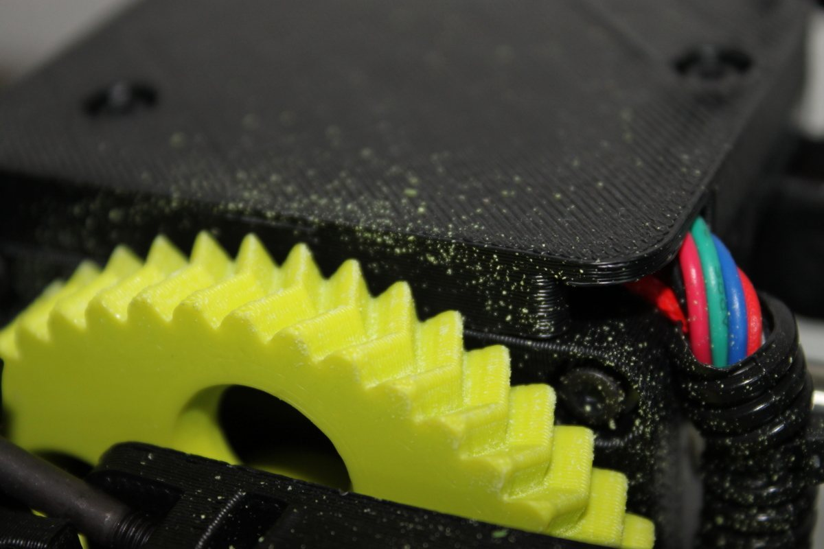 LulzBot Mini - worn extruder gear