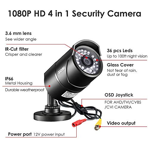 ZOSI 2.0 MP 1080P HD 4-in-1 Security Cameras 02