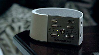 sound machine on desk