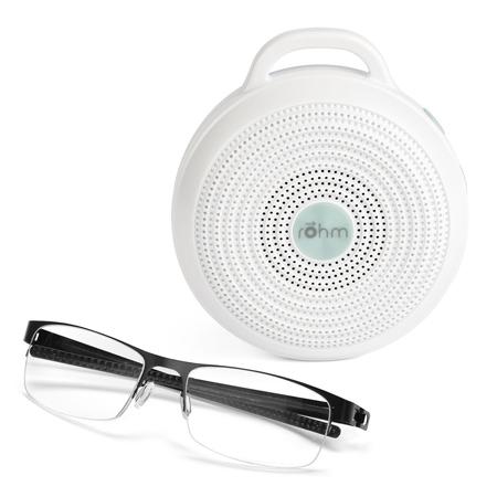 rohm portable white noise compared size glasses