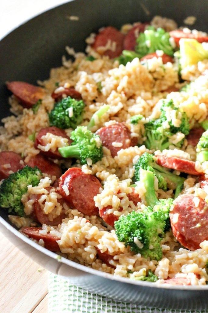 Smoked Sausage & Rice