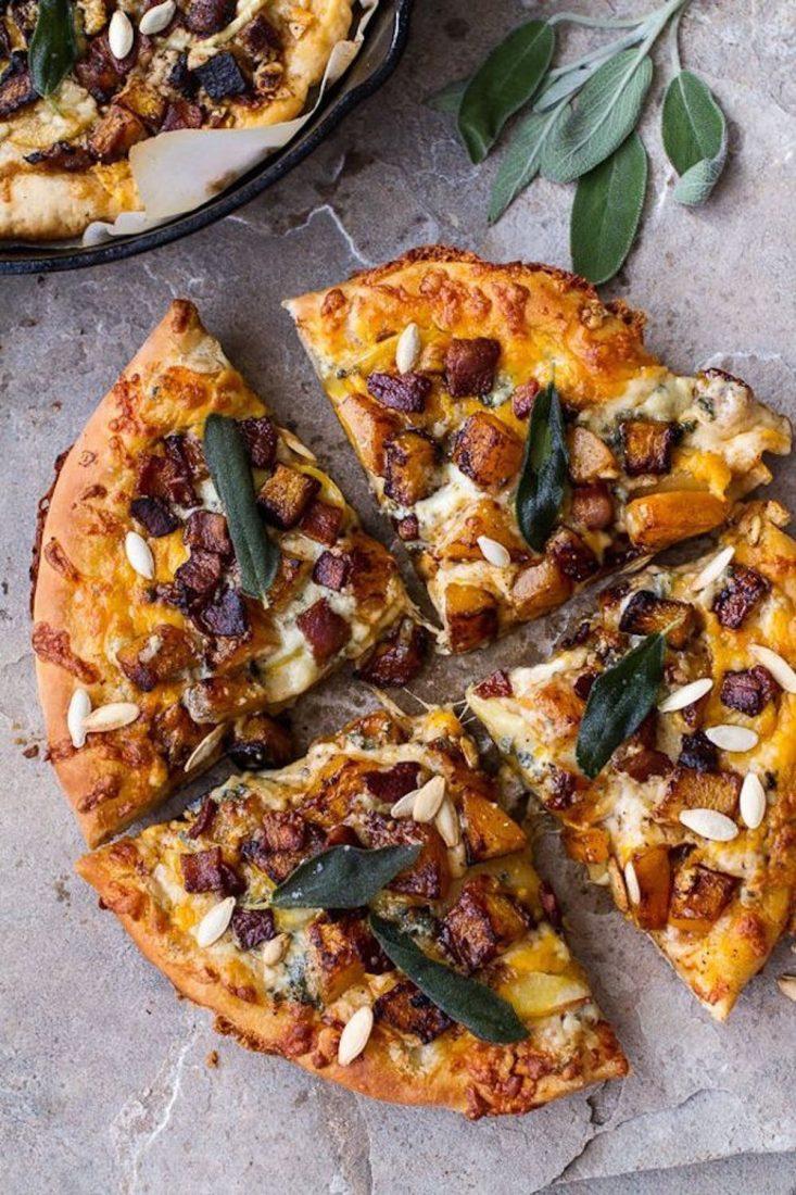 Butternut Squash & Bacon Pizza