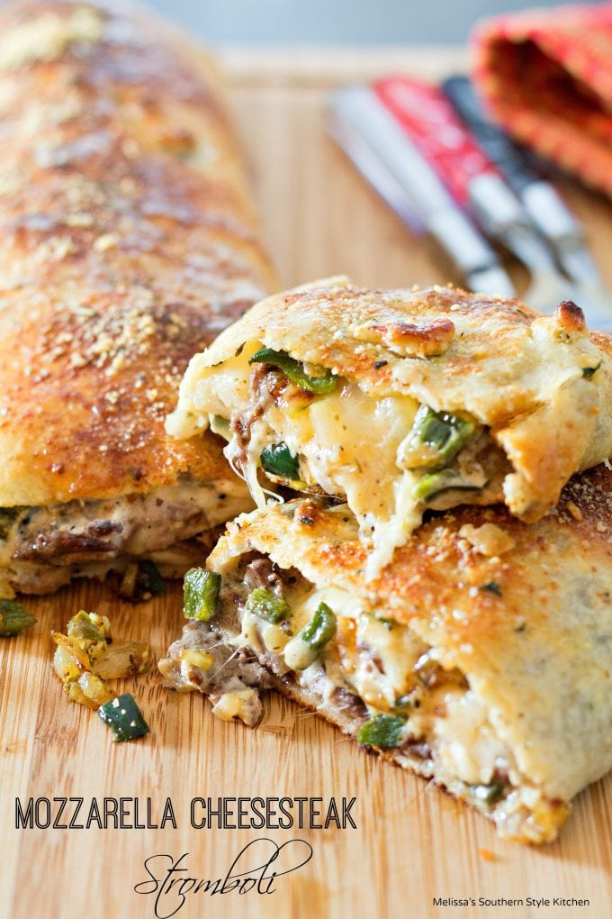 Mozzarella Cheesesteak Stromboli