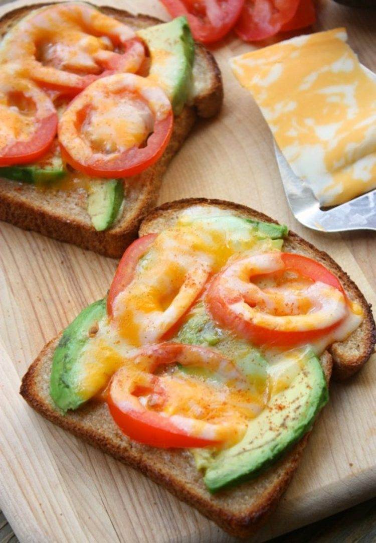 Tomato Avocado Melts