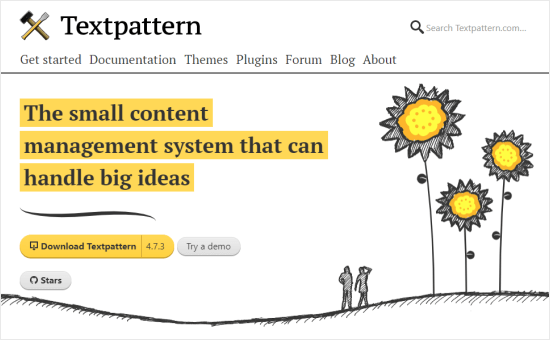 The Textpattern front page