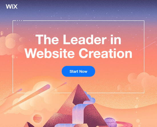 The Wix front page