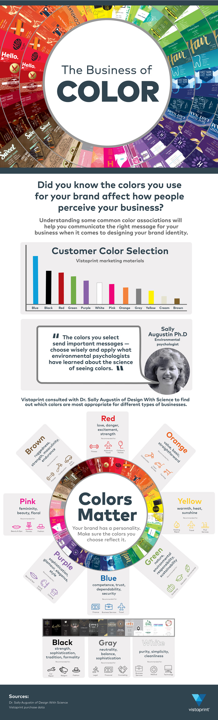 business colors infographic