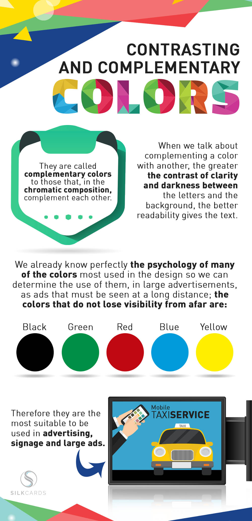 complementary and contrasting colors infographic