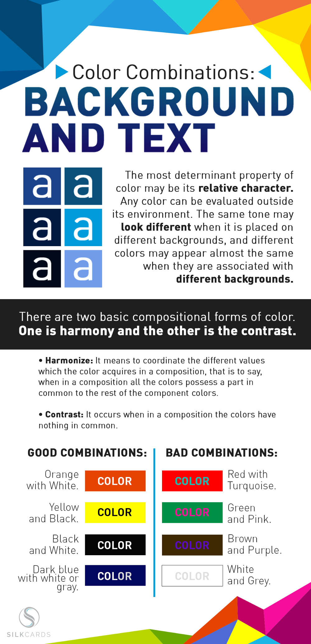 color combination infographic