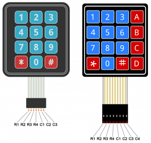Arduino Keypad Tutorial - 4X4 and 3X4 Keypad Pin Diagram