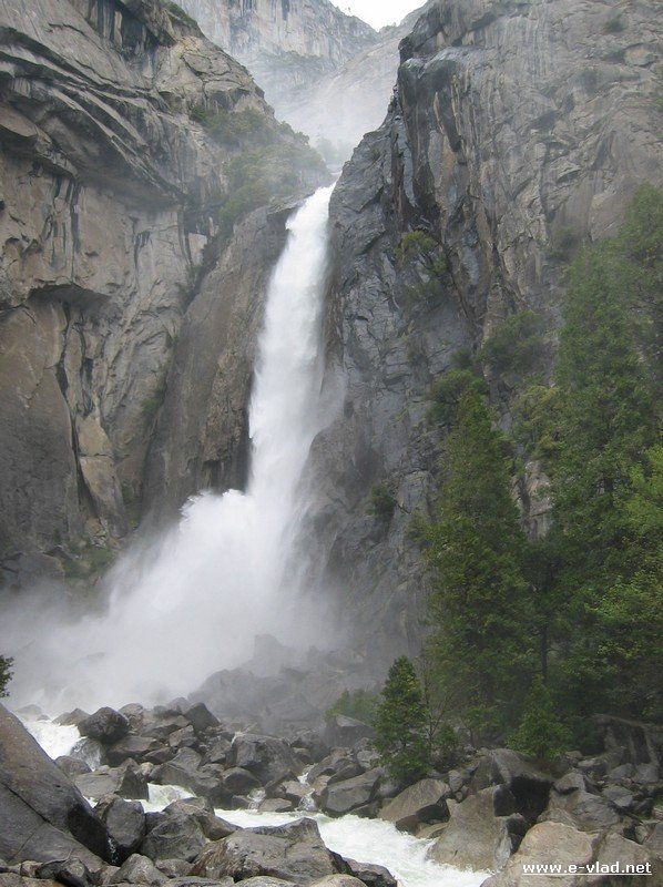 Lower Yosemite Fall in early spring