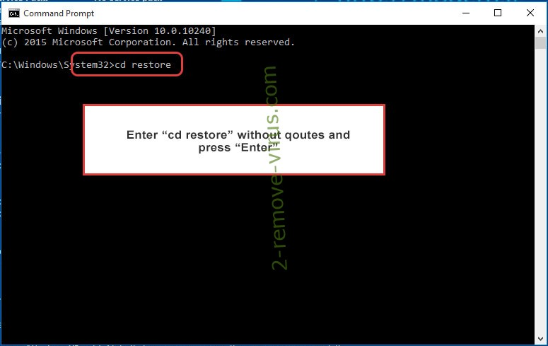 Uninstall 8800 ransomware - command prompt restore