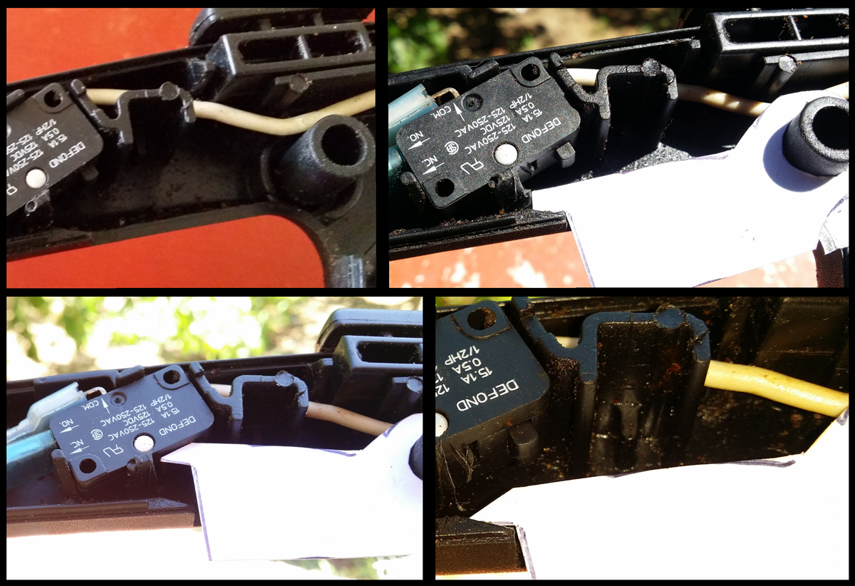 Chainsaw trigger - cardboard prototype