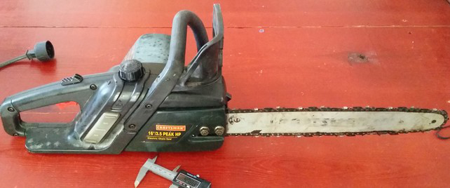 Fully repaired chainsaw