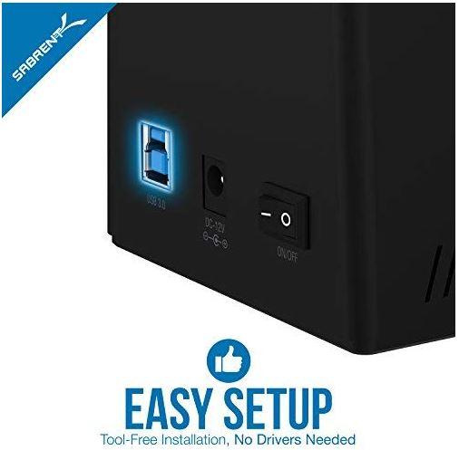 Sabrent USB 3 to SATA External Hard Drive Docking Station
