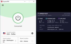 ExpressVPN Shreveport speed test