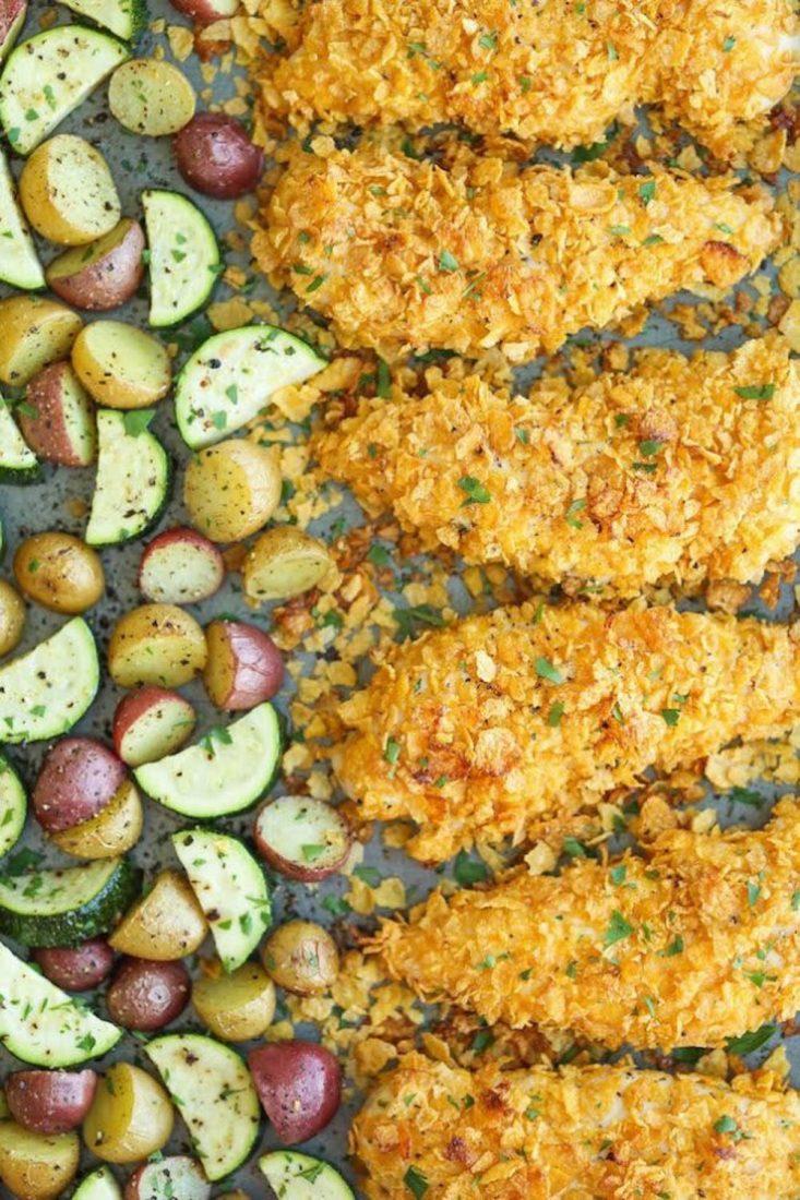 Baked Ranch Chicken Tenders & Veggies