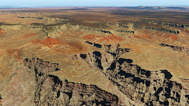 Grand Canyon HD photoreal scenery after being installed in X-Plane 11.