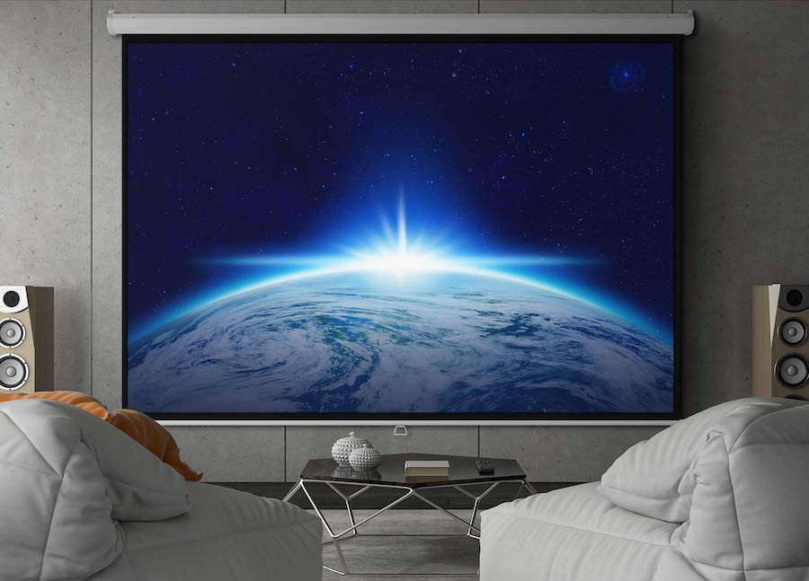 best home theater projector screen-min