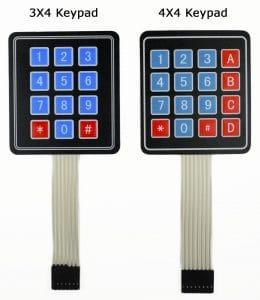 Arduino Keypad Tutorial - 3X4 and 4X4 Keypads