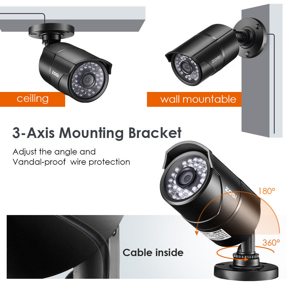 ZOSI 2.0 MP 1080P HD 4-in-1 Security Cameras