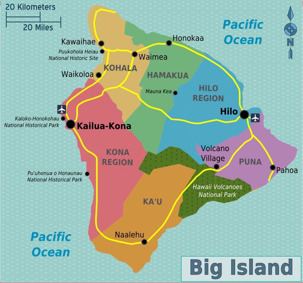 Kona coffee gorowing region on the Big Island of Hawaii