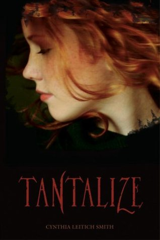 The Tantalize book cover features a profile picture of a red-haired girl.