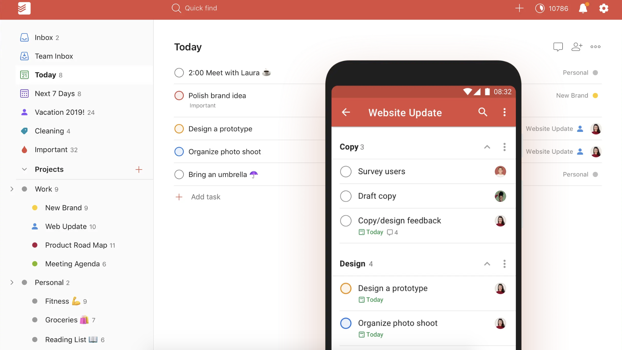 Apps to improve email efficiency at work. Todoist