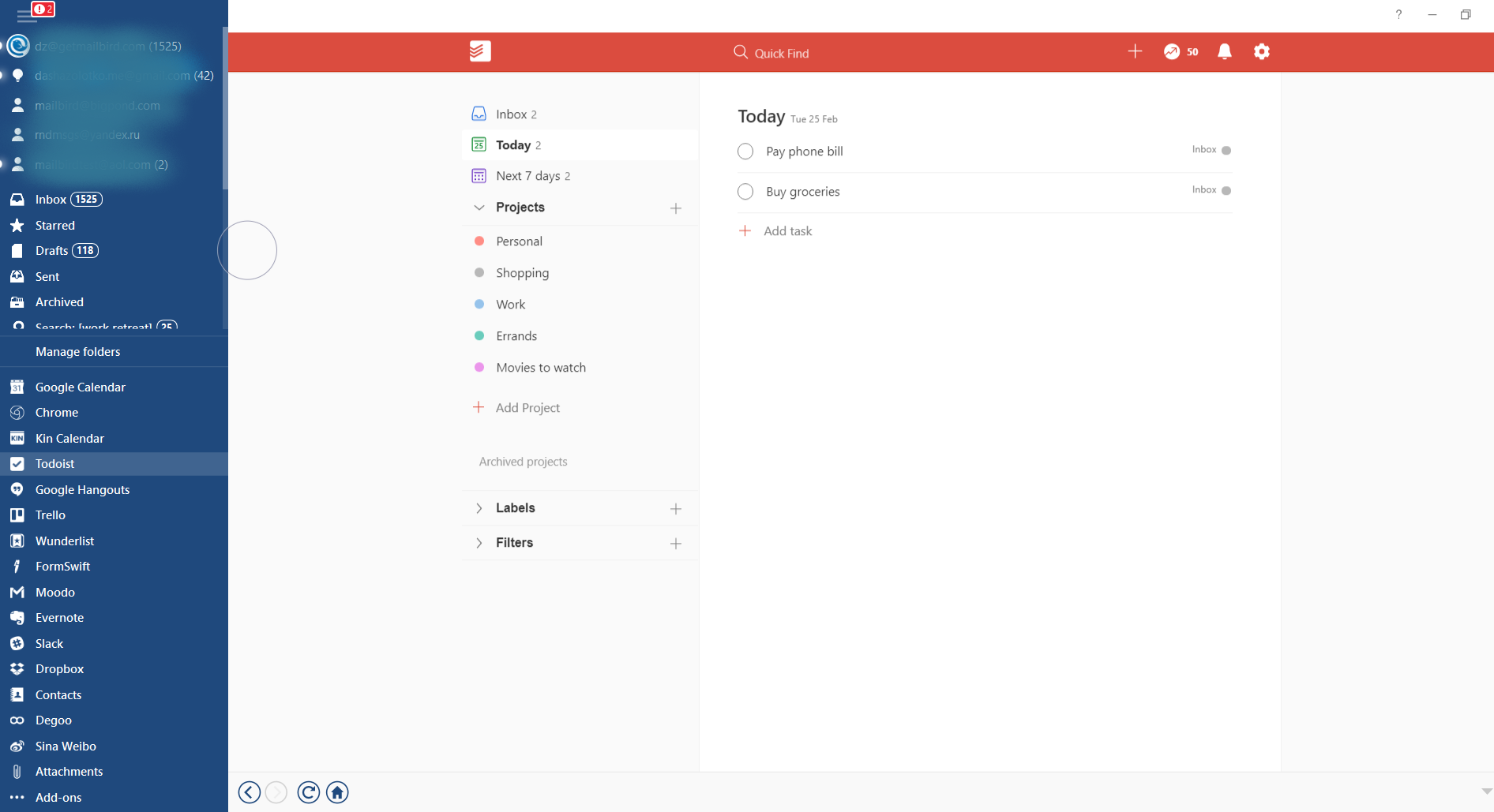 Email efficiency and effectiveness at work. Todoist