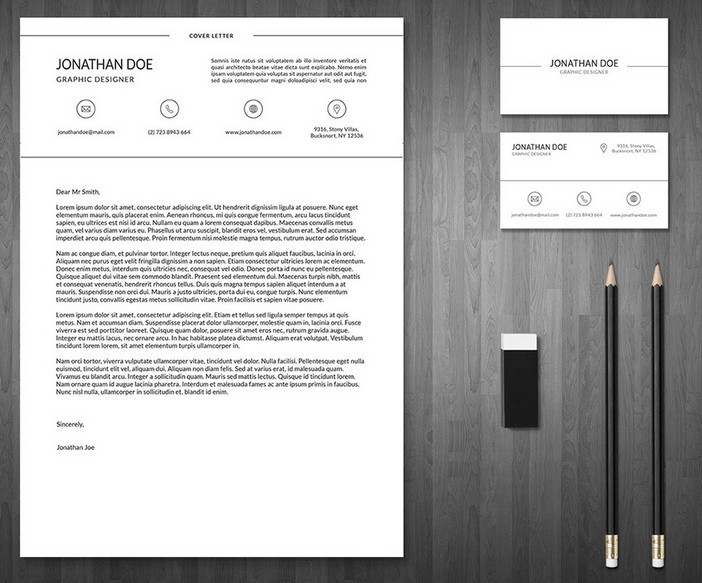 3-Piece Resume + Business Card Template
