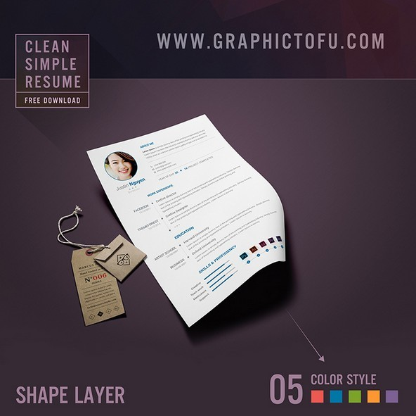 Free Clean Simple Resume Template