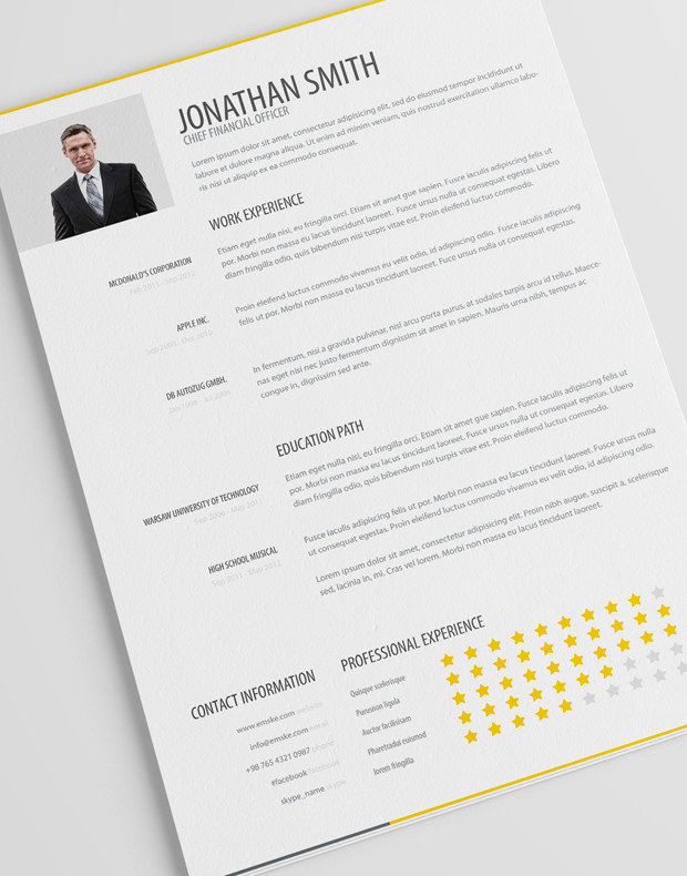 Simple Resume Template Vol. 1