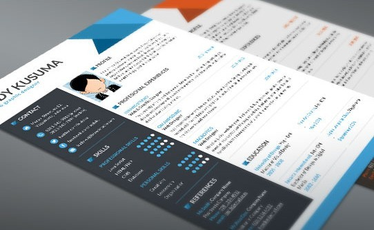 Free Resume Template Flasher - 3 Colors (PSD)
