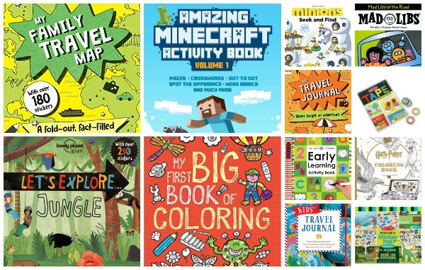 terrific travel, coloring, and activity books for kids