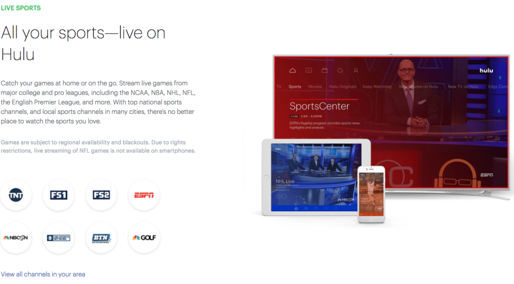 hulu with live tv streaming espn without cable alternatives internet TV live sports