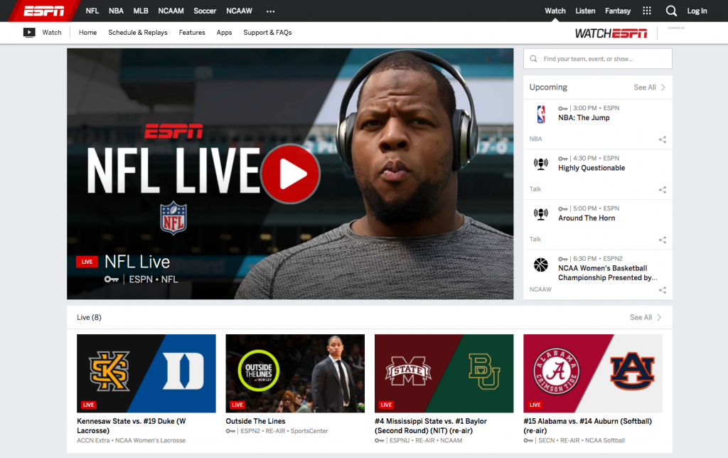 watch espn live without cable subscription alternatives