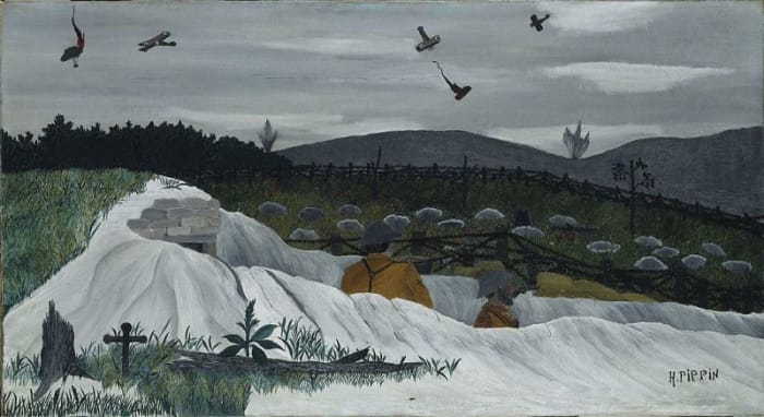 Dogfight over the trenches - Horace Pippin
