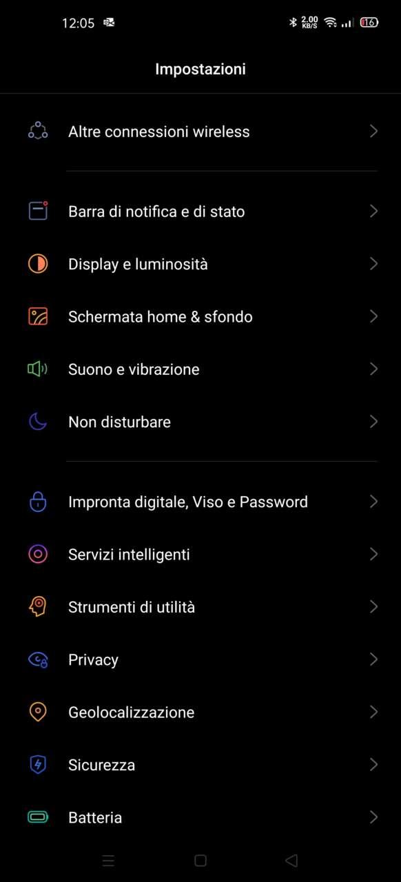 Oppo Find X2 Dark Mode