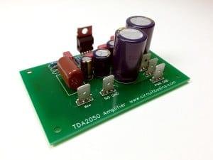 Complete TDA2050 Amplifier Design and Construction - Assembled Amp