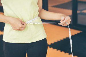 girls use their own waist measurement straps