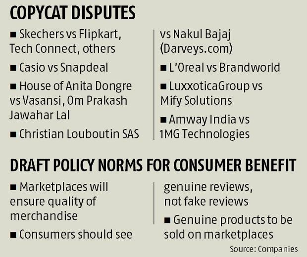 E-commerce policy against counterfeiters, resellers.