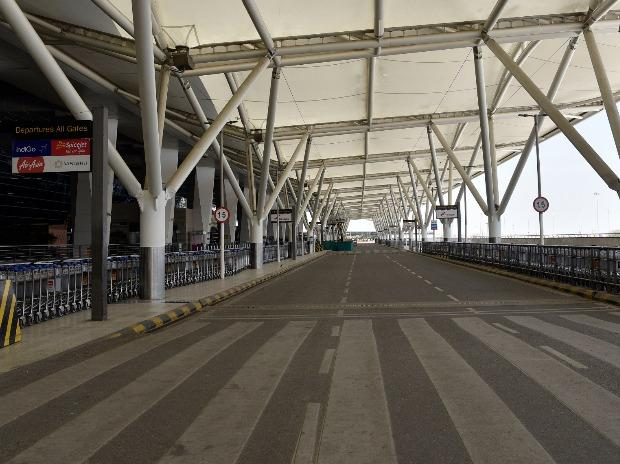 The bustling Delhi airport is currently bankrupt after India suspended all international and domestic passenger flights.
