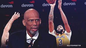 The Lakers, Karim Abdul-Jabbar, Anthony Davis.