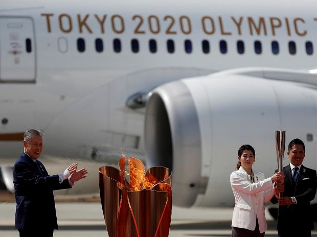 The Olympic flame in Japan