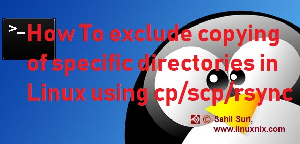 How to exclude Linux copying of specific directories using cp / scp / rsync