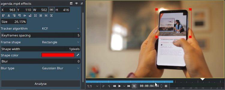 Kdenlive 20.04 Released with major updates, including improved motion tracking.
