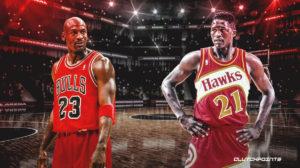 Bulls, Michael Jordan, Dominic Wilkins.