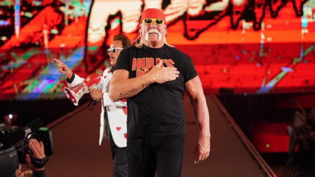 Hulk Hogan makes his appearance at the crown jewel.