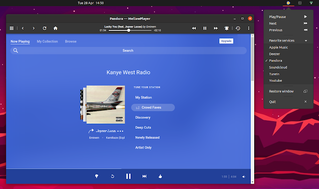 Qt Cloud Music Player MelowPlayer Updated with Remote Control Support, Pandora Radio Plugin